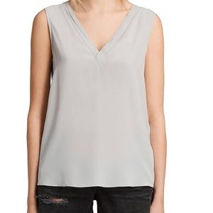 AllSaints Grey Arla Blouse